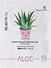 Духи, Парфюмерия, косметика Тканевая маска для лица - Beauty Kei Micro Facialist Boosting Aloe Essence Mask