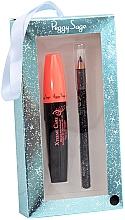 Духи, Парфюмерия, косметика Набор - Peggy Sage Black Eyes Box (mascara/11ml+eyeliner/1,14g) (Black)