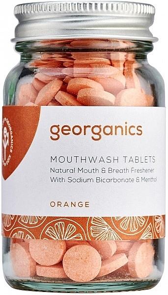 """Таблетки для полоскания рта """"Апельсин"""" - Georganics Mouthwash Tablets Orange — фото N1"""