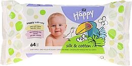 """Духи, Парфюмерия, косметика Влажные салфетки """"Шелк и хлопок"""" - Bella Baby Happy Silk & Cotton"""