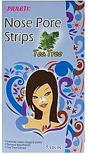 Духи, Парфюмерия, косметика Очищающие поры пластыри для носа с экстрактом чайного дерева - Prreti Nose Pore Strips Tea Tree