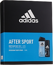 Духи, Парфюмерия, косметика Набор - Adidas After Sport (deo/150ml + sh/gel/250ml)