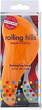Духи, Парфюмерия, косметика Щётка для волос, оранжевая - Rolling Hills Detangling Brush Travel Size Orange