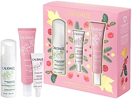 Духи, Парфюмерия, косметика Набор - Caudalie Vinosource Les Indispensables Hydratation (clean/mousse/50ml +serum/10ml + cream/sorbet/40ml)