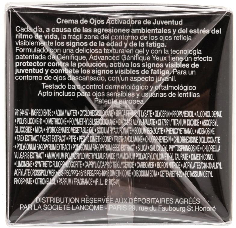 Крем-активатор молодости для кожи вокруг глаз - Lancome Genifique Yeux — фото N2