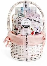 Духи, Парфюмерия, косметика Набор - IDC Institute Vintage Flowers Basket (sh/g/160ml+b/lot/50ml+salt/100g+bomb/160ml)