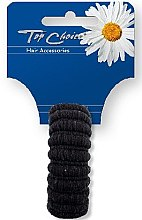 Духи, Парфюмерия, косметика Резинка для волос, черная, 22814 - Top Choice