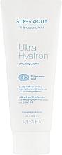 Духи, Парфюмерия, косметика Очищающий крем для лица с гиалуроновой кислотой - Missha Super Aqua Ultra Hyalron Cleansing Cream