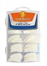 Духи, Парфюмерия, косметика Типсы для ногтей, b/k - Silcare Tipsy Exellent French White
