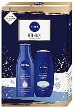 Духи, Парфюмерия, косметика Набор - Nivea Feel Good (b/milk/250ml + b/cr/250ml)