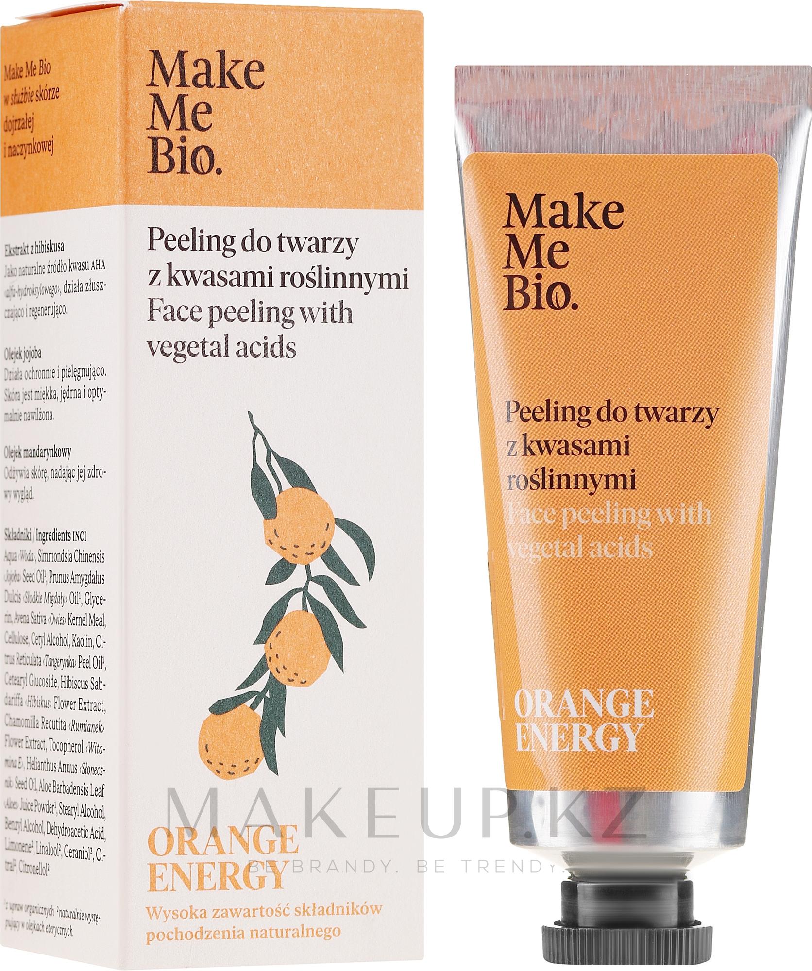 Пилинг для лица с растительными кислотами - Make Me Bio Orange Energy Face Peeling With Vegetal Acids — фото 40 ml