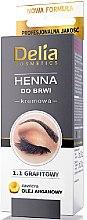 Духи, Парфюмерия, косметика Крем-краска для бровей в порошке, графитовая - Delia Brow Dye Graphite Henna Cream