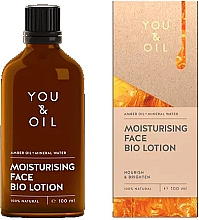 Духи, Парфюмерия, косметика Биолосьон для лица - You & Oil Moisturising Face Bio Lotion Amber Oil+Mineral Water