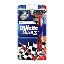 Духи, Парфюмерия, косметика Набор одноразовых станков для бритья, 6шт - Gillette Blue 3 Red