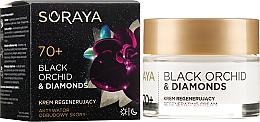 Духи, Парфюмерия, косметика Восстанавливающий крем для лица - Soraya Black Orchid & Diamonds 70+ Regenerating Cream