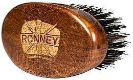 Духи, Парфюмерия, косметика Деревянная щетка для бороды с натуральной щетиной, темная - Ronney Professional Barber Small Brush