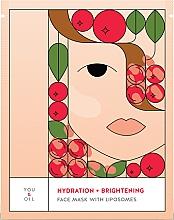Духи, Парфюмерия, косметика Увлажняющая осветляющая маска для лица - You & Oil Hydration & Brightening Face Mask With Liposomes