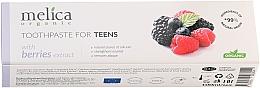 """Духи, Парфюмерия, косметика Зубная паста для подростков """"Ягодный микс"""", 6-14 лет - Melica Organic Toothpaste For Teens With Berries Extract"""
