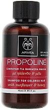 Духи, Парфюмерия, косметика Шампунь для волос с подсолнечником и медом - Apivita Propoline Shampoo For Colored Hair