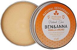 Духи, Парфюмерия, косметика Натуральный кремовый дезодорант - Ben & Anna Vanilla Orchid Soda Cream Deodorant