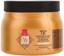 Духи, Парфюмерия, косметика Маска для плотных волос - L'Oreal Professionnel Mythic Oil Rich Masque For Thick Hair