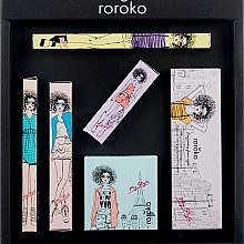Духи, Парфюмерия, косметика Набор - Roroko Natural Nude Make-up Box (eyebrow/pencil/0.4g + eyeshadow/8g + eyeliner/0.8g + blush/6g + mascara/8g + lipstick/3.5g)