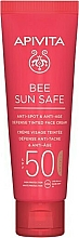 Духи, Парфюмерия, косметика Тонирующий крем для лица с морскими водорослями и прополисом - Apivita Bee Sun Safe Anti-Spot & Anti-Age Defense Tinted Face Cream SPF 50