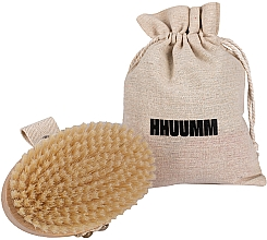 Духи, Парфюмерия, косметика Щетка для массажа и купания, мягкое волокно, светло-коричневая - Hhuumm № 3