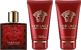 Духи, Парфюмерия, косметика Versace Eros Flame - Набор (edp/50ml + sh/gel/50ml + ash/balm/50ml)