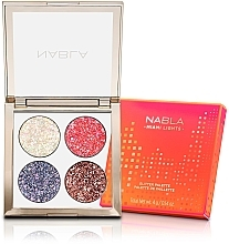 Духи, Парфюмерия, косметика Палетка теней для век - Nabla Miami Lights Collection Glitter Palette