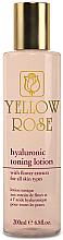 Духи, Парфюмерия, косметика Тонизирующий лосьон с гиалуроновой кислотой - Yellow Rose Hyaluronic Toning Lotion