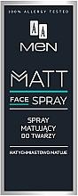 Духи, Парфюмерия, косметика Матирующий спрей для лица для мужчин - AA Men Matt Face Spray