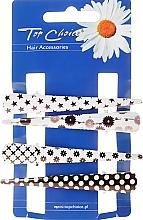 Духи, Парфюмерия, косметика Заколки для волос, 25099, черно-белые - Top Choice
