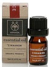 "Духи, Парфюмерия, косметика Эфирное масло ""Корица"" - Apivita Aromatherapy Organic Cinnamon Oil"