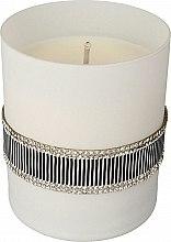 Духи, Парфюмерия, косметика Ароматическая свеча чорно-белая, 8х9,5см - Artman Crystal Glass