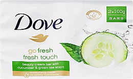 Духи, Парфюмерия, косметика Крем-мыло для тела - Dove Go Fresh Cream Bar With Cucumber & Green Tea Scent