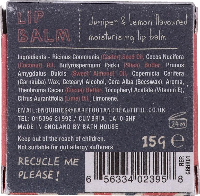 Бальзам для губ - Bath House Lip Balm Juniper & Lemon — фото N5