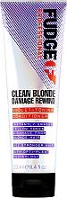 Духи, Парфюмерия, косметика Тонирующий кондиционер для волос - Fudge Clean Blonde Damage Rewind Conditioner