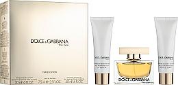 Духи, Парфюмерия, косметика Dolce & Gabbana The One - Набор (edp/75ml + b/l/50ml + sh/g/50ml)