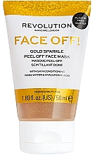 Духи, Парфюмерия, косметика Пилинг-маска для лица - Revolution Skincare Face Off! Gold Glitter Face Off Mask