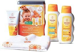 Духи, Парфюмерия, косметика Набор - Weleda Baby Calendula Set (b/cr/75ml+b/milk/200ml+b/oil/200ml)