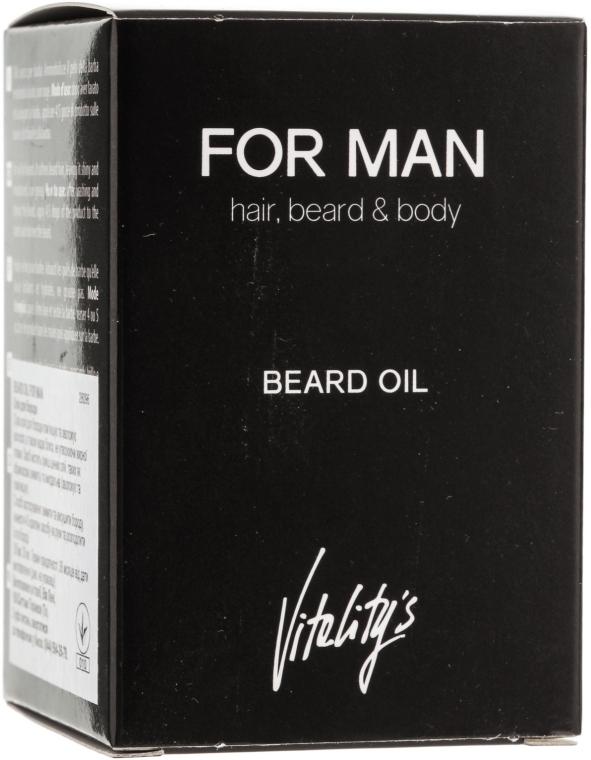 Масло для бороды - Vitality's For Man Beard Oil — фото N3