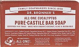 """Духи, Парфюмерия, косметика Мыло """"Эвкалипт"""" - Dr. Bronner's Pure Castile Bar Soap Eucalyptus"""