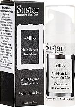 Духи, Парфюмерия, косметика Мужская сыворотка для волос - Sostar Donkey Milk Men Anti-Hair Loss Serum