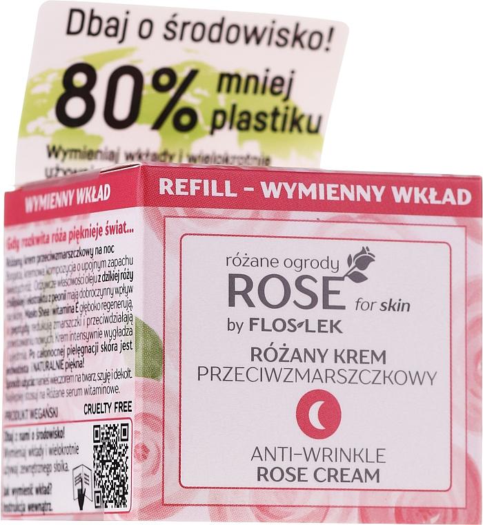 Ночной крем против морщин - Floslek Rose For Skin Anti-Wrinkle Night Cream Refill — фото N1