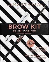 Духи, Парфюмерия, косметика Набор - Anastasia Beverly Hills Better Together Brow Kit Soft Brown (pencil/0.08g + gel/2.5g)