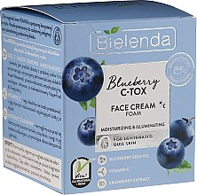 Духи, Парфюмерия, косметика Увлажняющая и осветляющая крем-пена для лица - Bielenda Blueberry C-Tox Face Cream