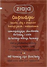 Духи, Парфюмерия, косметика Платок для автозагара для лица и тела - Ziaja Cupuacu