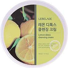 Духи, Парфюмерия, косметика Очищающий крем с экстрактом лимона - Lebelage Lemon Detox Cleansing Cream