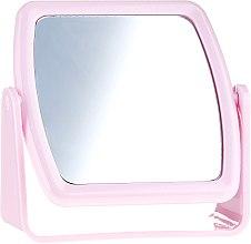 Духи, Парфюмерия, косметика Зеркало на подставке 85727, квадратное, розовое - Top Choice Beauty Collection Mirror